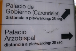 The tourist board is so helpful here they give you walking distances to the nearest second