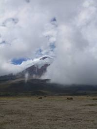 Cotopaxi is rarely not shrouded in cloud